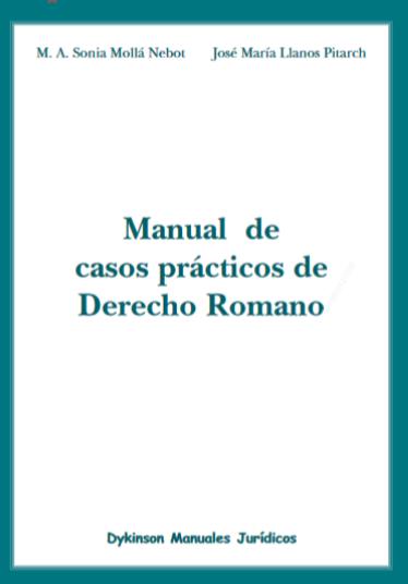 manual de casos prácticos de derecho romano pdf